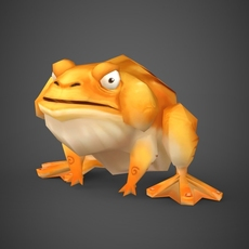 Fantasy Toon Toad 3D Model
