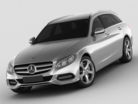 Mercedes C Class estate 2014 avantgarde 3D Model