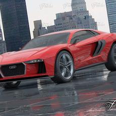 Audi Nanuk + Environment 3D Model