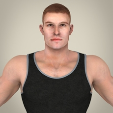Realistic Handsome Man 3D Model