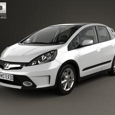 Honda Fit (GE) Twist with HQ interior 2013 3D Model