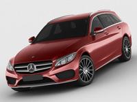 Mercedes C Class estate 2014 AMG package 3D Model