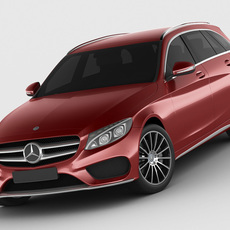 Mercedes C Class estate 2014 AMG package 3D Model