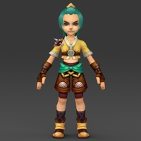 Cartoon Character Bhuli 3D Model