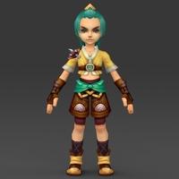 Cartoon Character Bhuli 3D Model