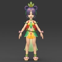 Cartoon Character Fuli 3D Model