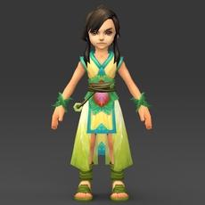 Cartoon Character Khuli 3D Model