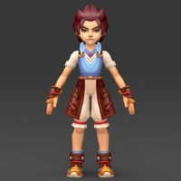 Cartoon Character Tuli 3D Model