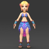 Cartoon Character Julni 3D Model