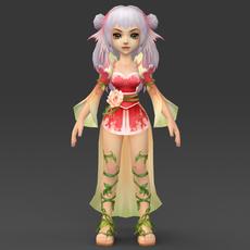 Cartoon Character Dhuli 3D Model