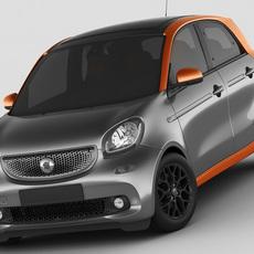 Smart Forfour 2015 3D Model