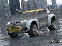 Renault Kwid + Environment 3D Model