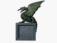 winged dragon sculpture 3D Model