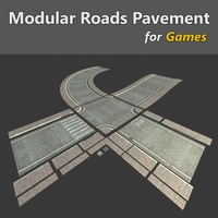 Modular Streets Pavement 3D Model