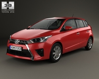 Toyota Yaris 5-door hatchback 2014 3D Model