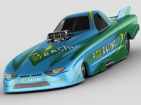 Dragster NHRA FunnyCar 3D Model
