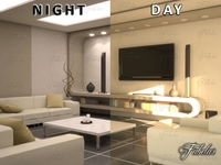 Living room 10 Day & night 3D Model