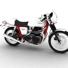 Triumph Thruxton 2011 3D Model