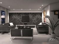 Living room 11 night 3D Model