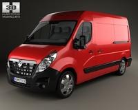 Vauxhall Movano Panel Van 2010 3D Model