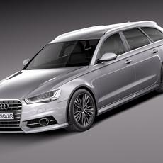 Audi A6 Avant 2015 3D Model