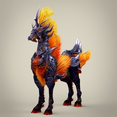 Fantasy Animal Dogra 3D Model