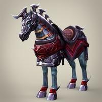 Fantasy Warrior Horse Tiktik 3D Model