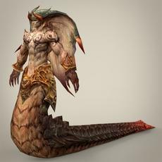 Fantasy Snake Man Tapola 3D Model