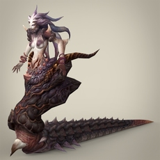 Fantasy Snake Woman Japoli 3D Model