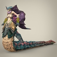 Fantasy Snake Woman Sapoli 3D Model
