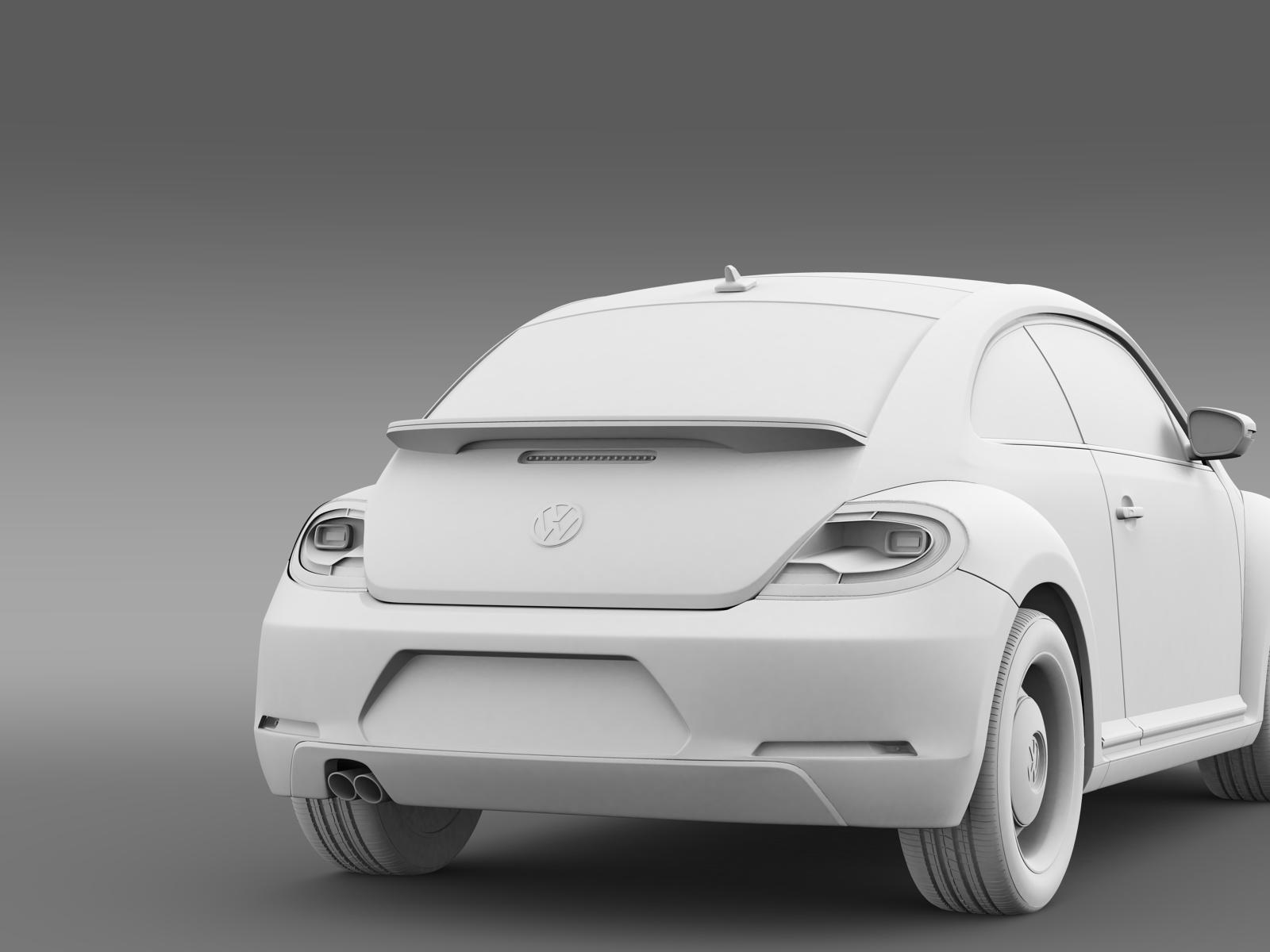 volkswagen beetle classic 2015 3d model. Black Bedroom Furniture Sets. Home Design Ideas