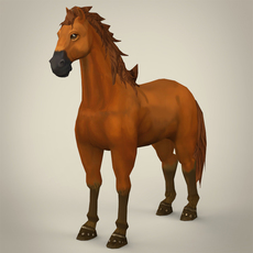 Super Cartoon Horse 3D Model