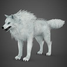 White Wolf 3D Model