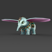 Fantasy Baby Elephant 3D Model