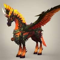 Fantasy Flying Knight Horse 3D Model