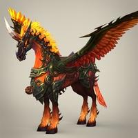Fantasy Flying Knight Horse 3D Model