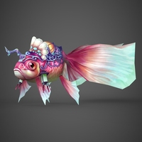 Fantasy Khuni Fish 3D Model
