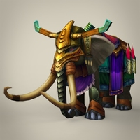 Fantasy King Mammoth 3D Model