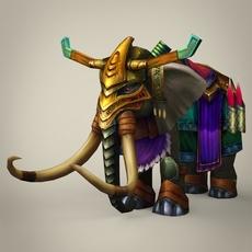 Fantasy King Mammoth 3D Model