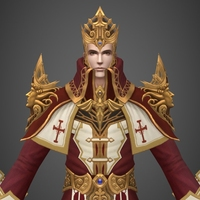 Fantasy Medieval King 3D Model