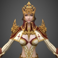 Fantasy Medieval Queen 3D Model
