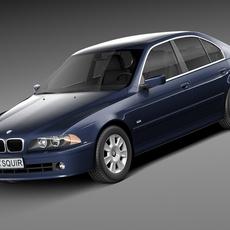 BMW 5-series e39 sedan 2001 3D Model