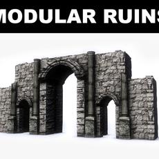 Modular Ruins Kit 3D Model