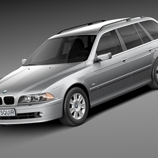 BMW 5-series e39 touring 2001 3D Model