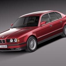 BMW 5-series e34 sedan 1991 3D Model