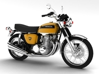 Honda CB750 Four K0 1969 3D Model