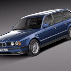 BMW 5-series e34 touring 1991 3D Model