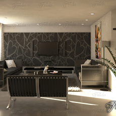 Living room 11 day 3D Model