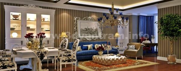 3d interior living dinning room design studio wide