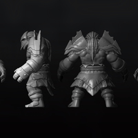 Axe set high poly cover